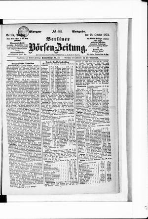 Berliner Börsen-Zeitung vom 28.10.1873