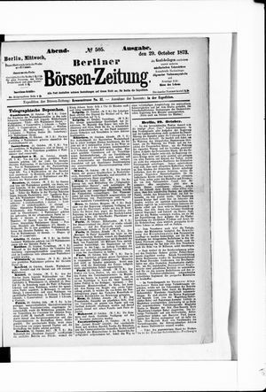 Berliner Börsen-Zeitung vom 29.10.1873