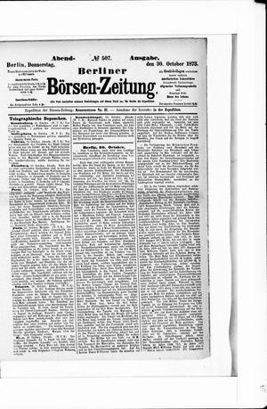 Berliner Börsen-Zeitung on Oct 30, 1873