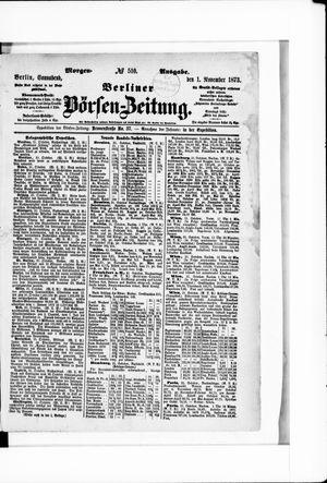 Berliner Börsen-Zeitung vom 01.11.1873
