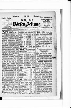 Berliner Börsen-Zeitung vom 02.11.1873