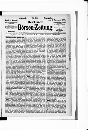 Berliner Börsen-Zeitung vom 03.11.1873