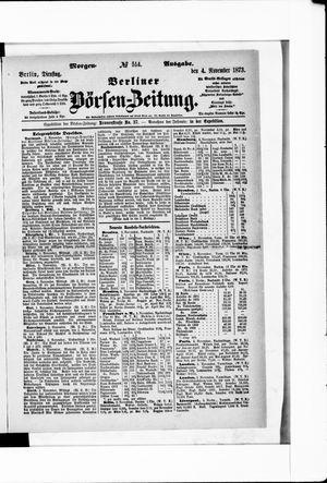 Berliner Börsen-Zeitung vom 04.11.1873