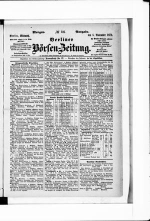 Berliner Börsen-Zeitung vom 05.11.1873