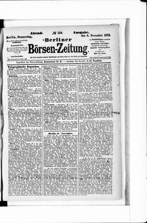 Berliner Börsen-Zeitung vom 06.11.1873