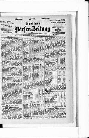 Berliner Börsen-Zeitung on Nov 7, 1873
