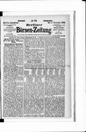 Berliner Börsen-Zeitung vom 08.11.1873