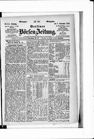 Berliner Börsen-Zeitung vom 09.11.1873