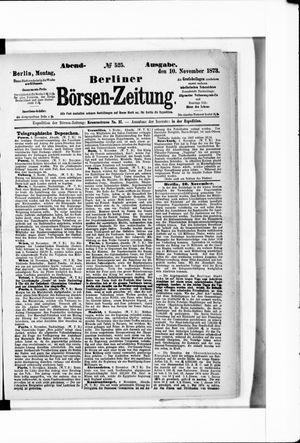 Berliner Börsen-Zeitung vom 10.11.1873