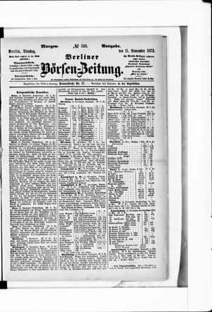Berliner Börsen-Zeitung vom 11.11.1873