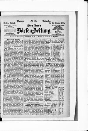Berliner Börsen-Zeitung vom 12.11.1873