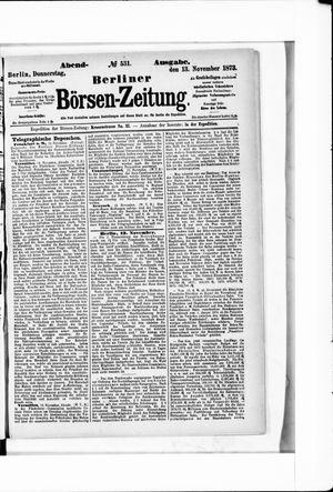 Berliner Börsen-Zeitung vom 13.11.1873