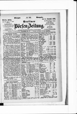 Berliner Börsen-Zeitung vom 14.11.1873