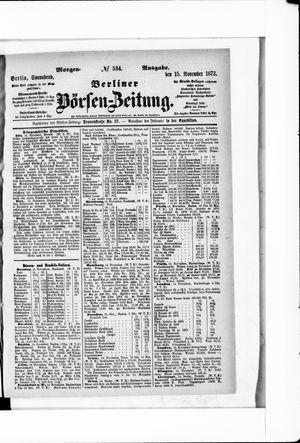 Berliner Börsen-Zeitung vom 15.11.1873