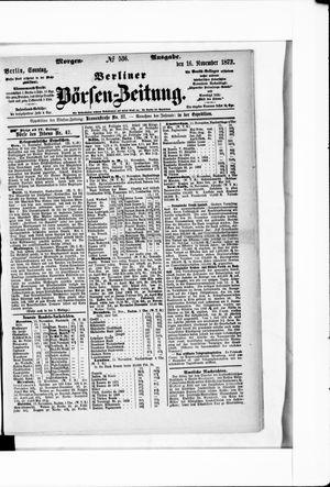 Berliner Börsen-Zeitung on Nov 16, 1873