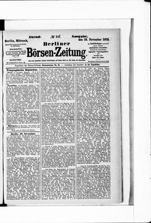 Berliner Börsen-Zeitung vom 19.11.1873