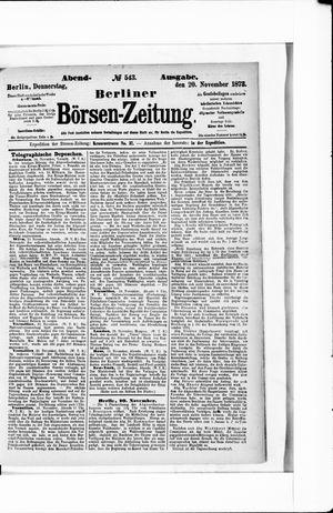 Berliner Börsen-Zeitung on Nov 20, 1873