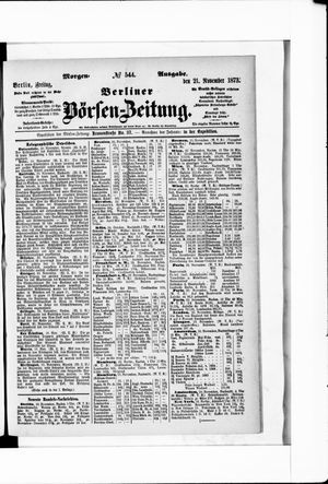 Berliner Börsen-Zeitung vom 21.11.1873