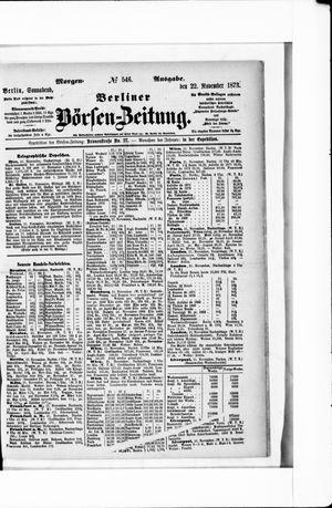 Berliner Börsen-Zeitung on Nov 22, 1873
