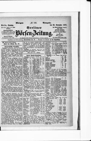 Berliner Börsen-Zeitung vom 23.11.1873
