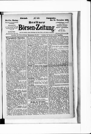 Berliner Börsen-Zeitung vom 24.11.1873