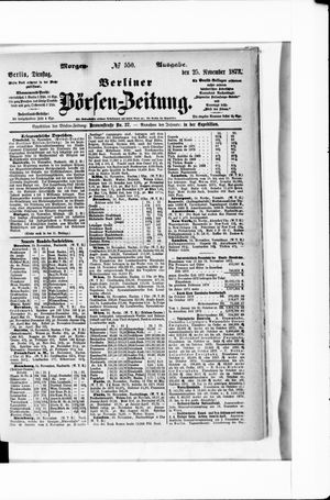 Berliner Börsen-Zeitung vom 25.11.1873