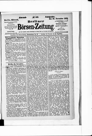 Berliner Börsen-Zeitung on Nov 26, 1873