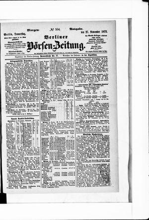 Berliner Börsen-Zeitung vom 27.11.1873