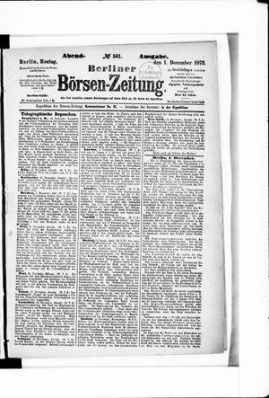 Berliner Börsen-Zeitung vom 01.12.1873