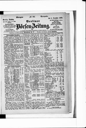 Berliner Börsen-Zeitung vom 02.12.1873