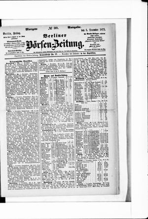Berliner Börsen-Zeitung vom 05.12.1873