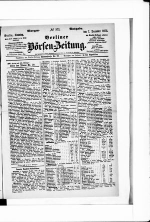 Berliner Börsen-Zeitung on Dec 7, 1873
