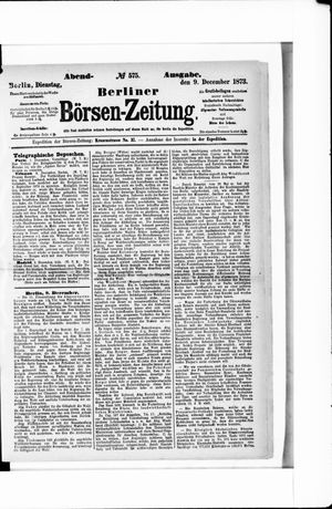 Berliner Börsen-Zeitung vom 09.12.1873