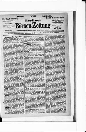 Berliner Börsen-Zeitung vom 11.12.1873