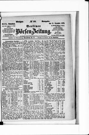 Berliner Börsen-Zeitung vom 13.12.1873