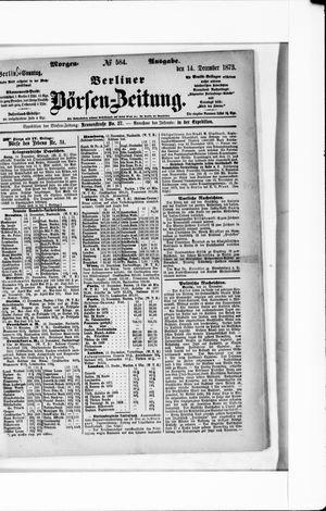 Berliner Börsen-Zeitung vom 14.12.1873