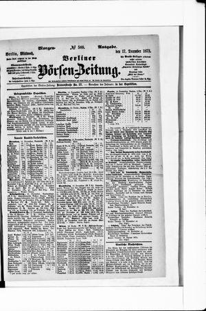 Berliner Börsen-Zeitung vom 17.12.1873