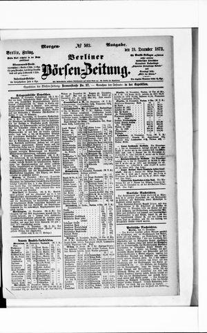 Berliner Börsen-Zeitung vom 19.12.1873