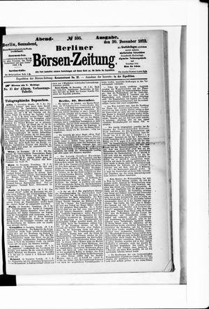 Berliner Börsen-Zeitung vom 20.12.1873