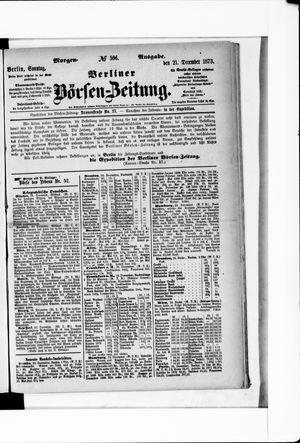 Berliner Börsen-Zeitung vom 21.12.1873