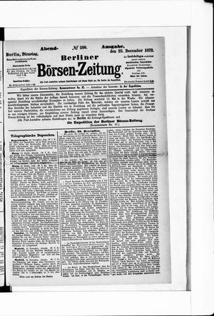 Berliner Börsen-Zeitung vom 23.12.1873