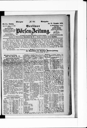 Berliner Börsen-Zeitung vom 28.12.1873
