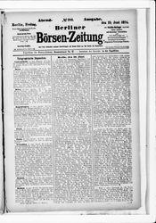 Berliner Börsenzeitung (19.06.1874)