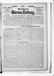 Berliner Börsenzeitung (23.06.1874)