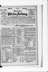 Berliner Börsenzeitung (22.09.1874)