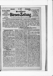 Berliner Börsen-Zeitung (14.12.1874)