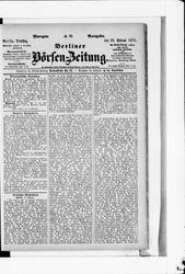 Berliner Börsenzeitung (22.02.1875)