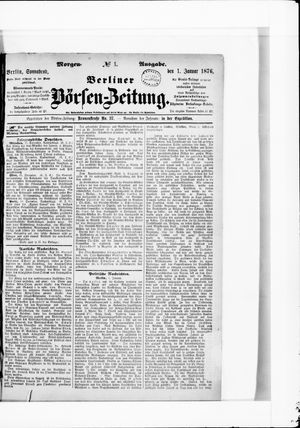 Berliner Börsen-Zeitung vom 01.01.1876