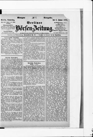 Berliner Börsen-Zeitung vom 06.01.1876