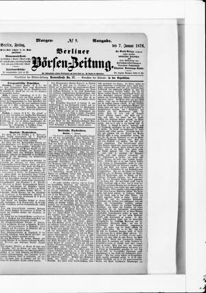 Berliner Börsen-Zeitung vom 07.01.1876